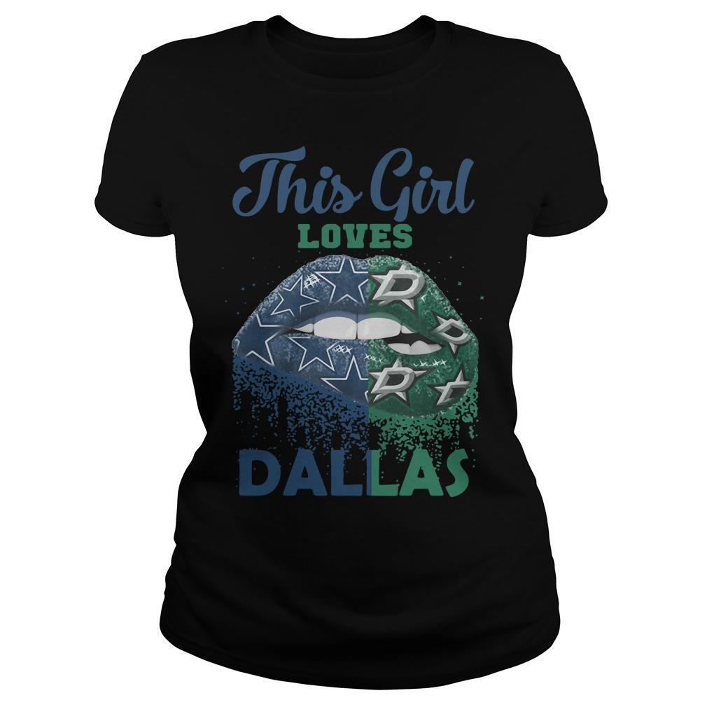 Lip This Girl Loves Dallas Ladies Tee