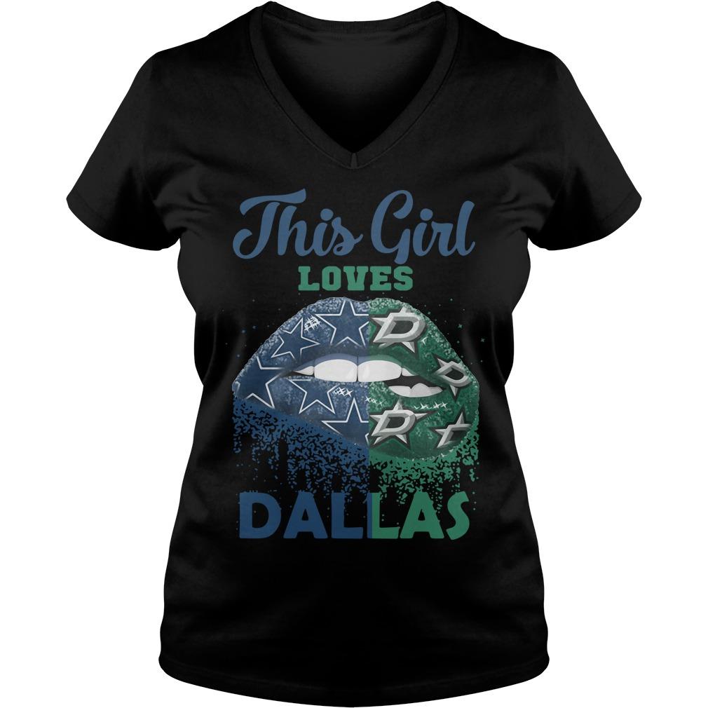 Lip This Girl Loves Dallas V-neck T-shirt