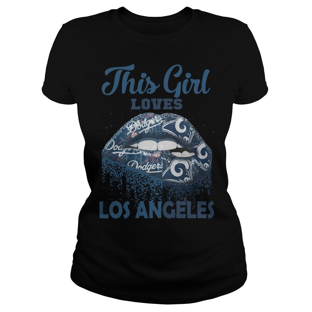 Lip This Girl Loves Los Angeles Ladies Tee