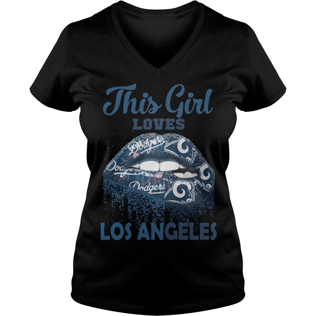 Lip This Girl Loves Los Angeles V-neck T-shirt