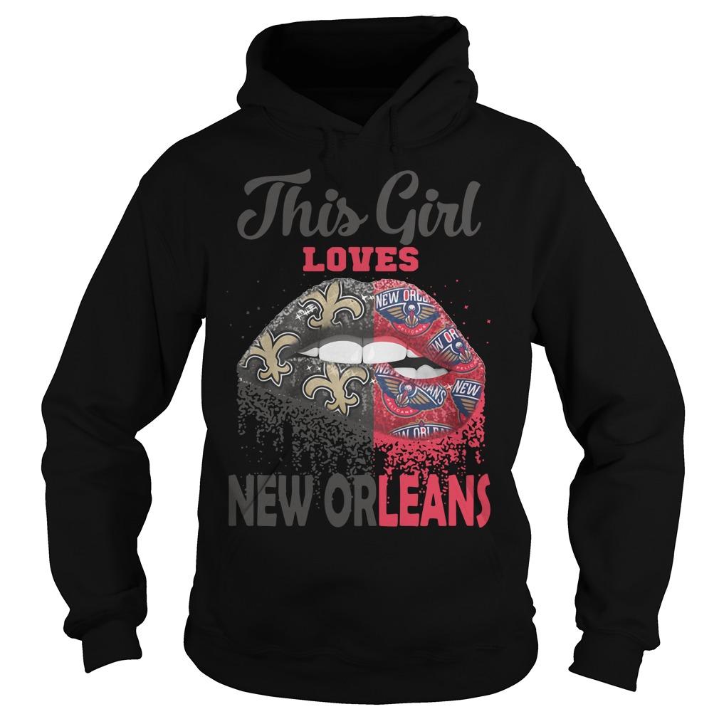 Lip This Girl Loves New Orleans Hoodie