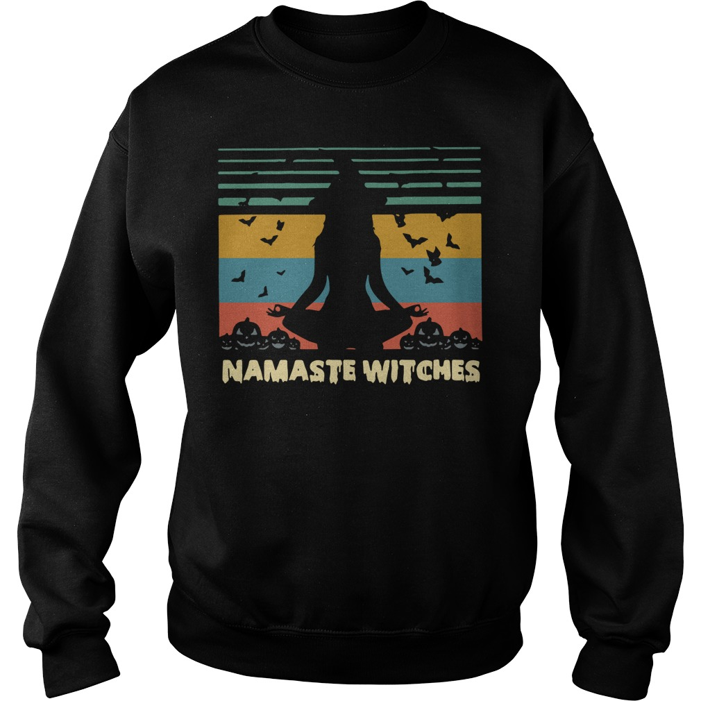 Namaste Witches Halloween Sunset Sweater