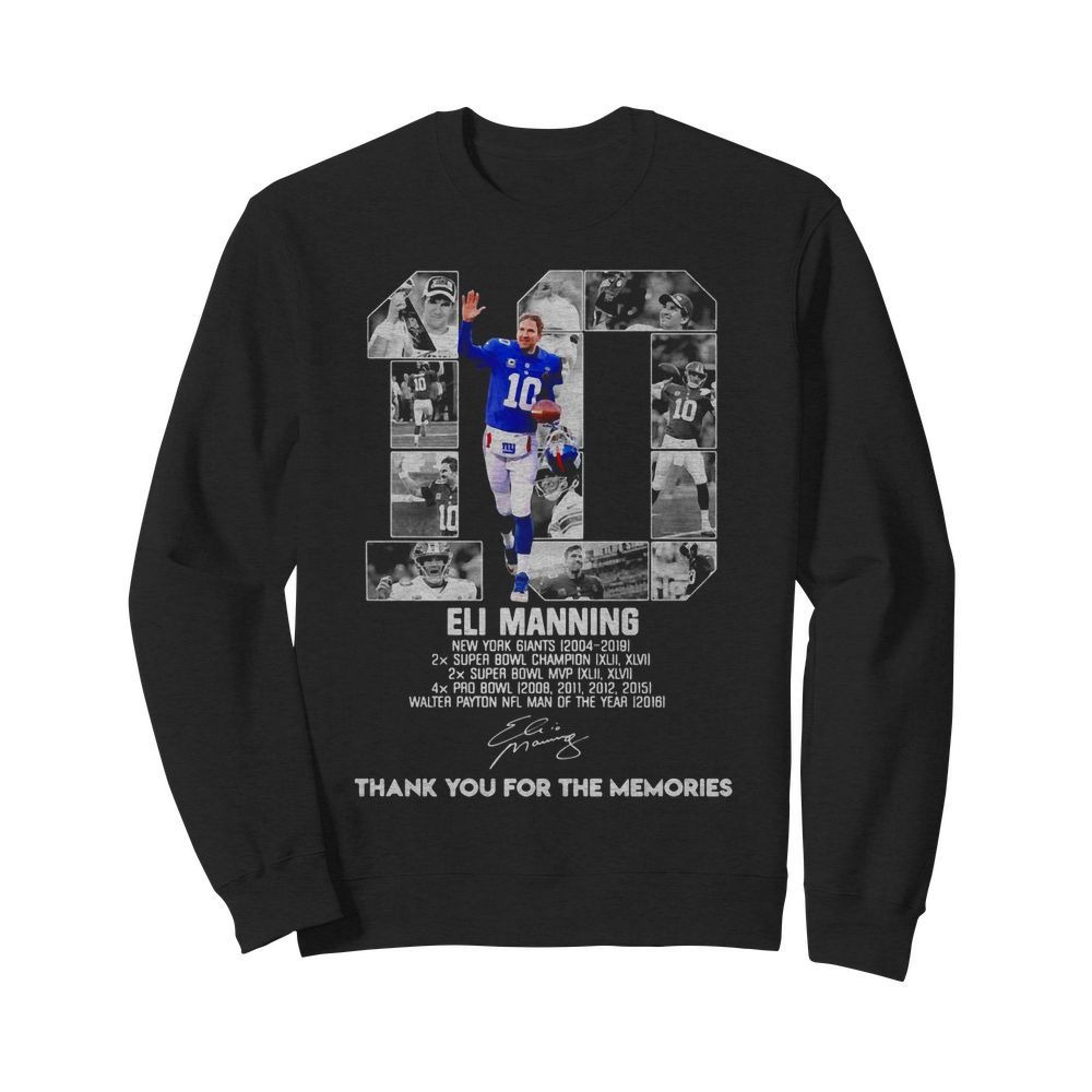 10 Eli Manning Thank You For The Memories Shirt