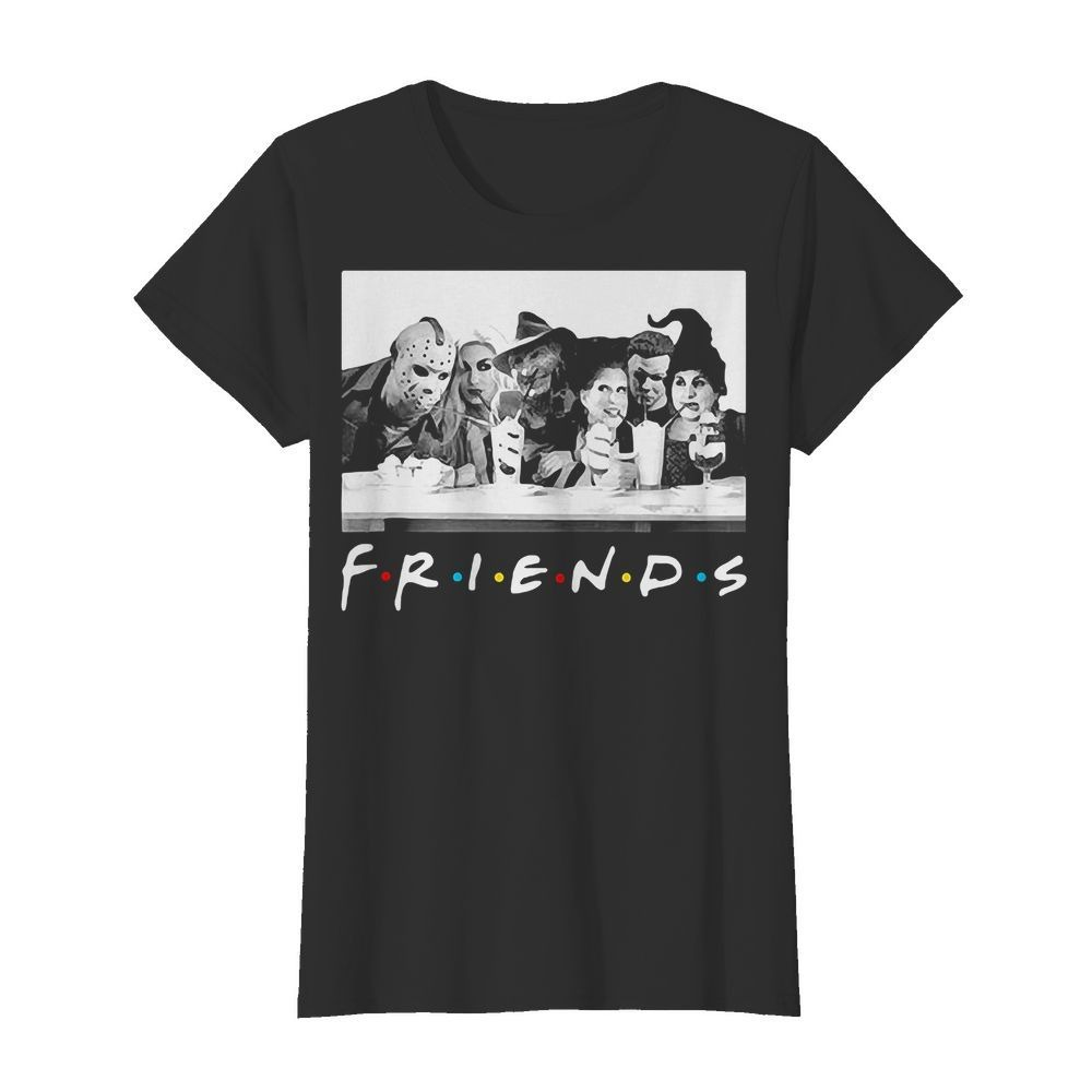 Hocus Pocus Horror Halloween Friends Ladies Tee