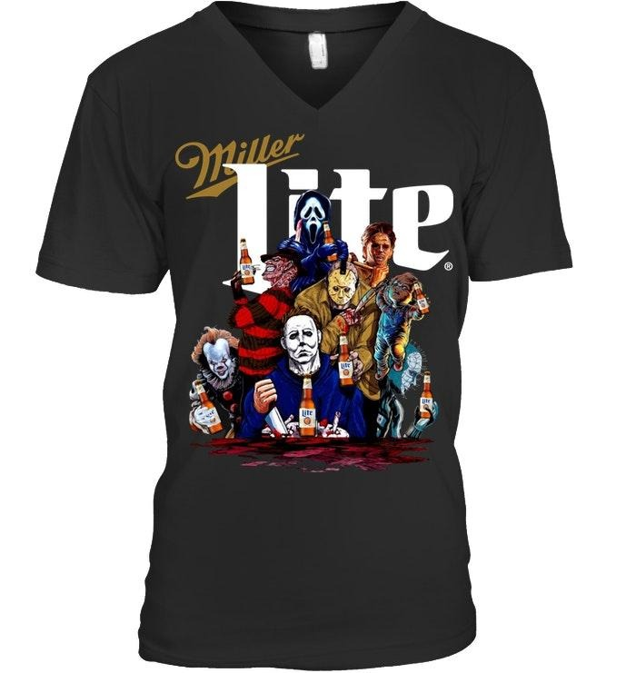 Horror Movies Character Miller Lite Shirt