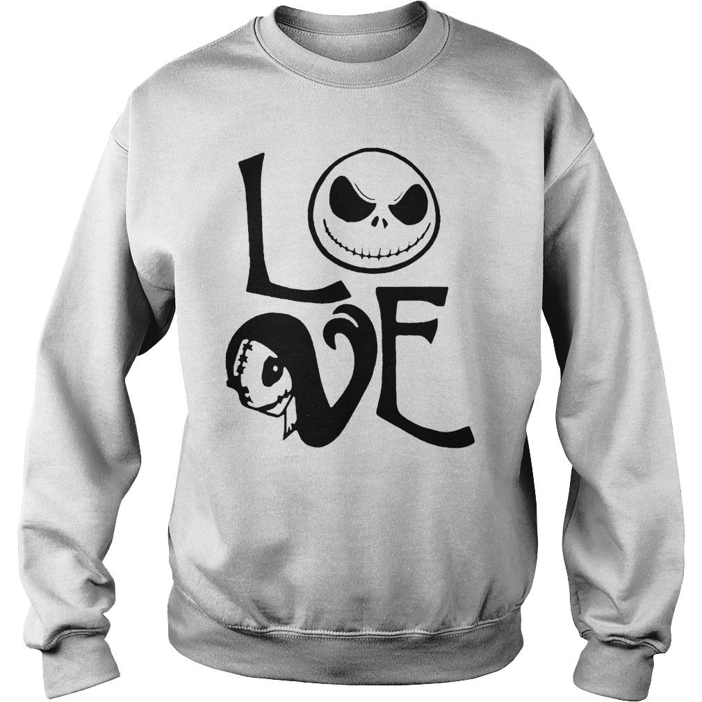 Jack Skellington And Sally Love Halloween Shirt