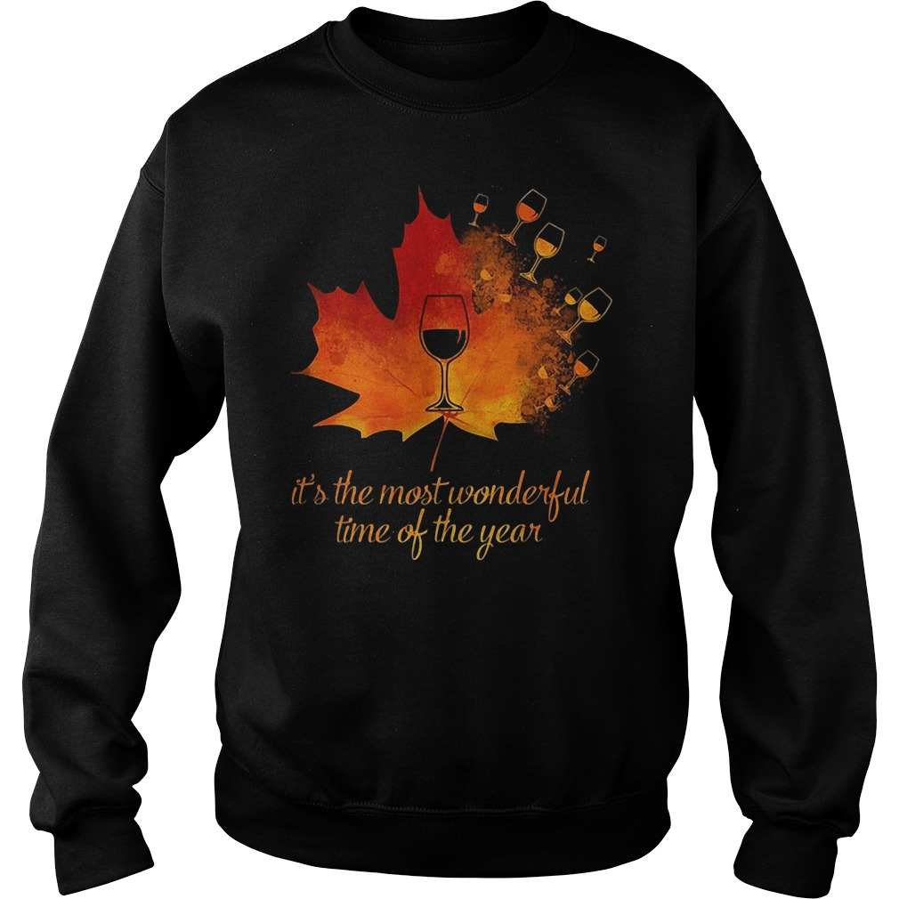 Wine Leaf It's The Most Wonderful Time Of The Year Shirt