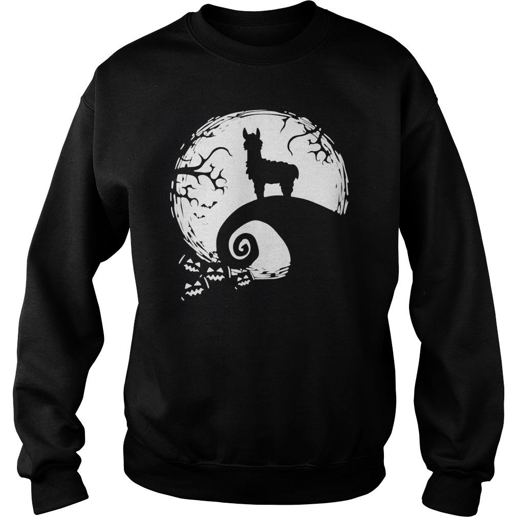 Llamas And Moon Halloween Costume Shirt