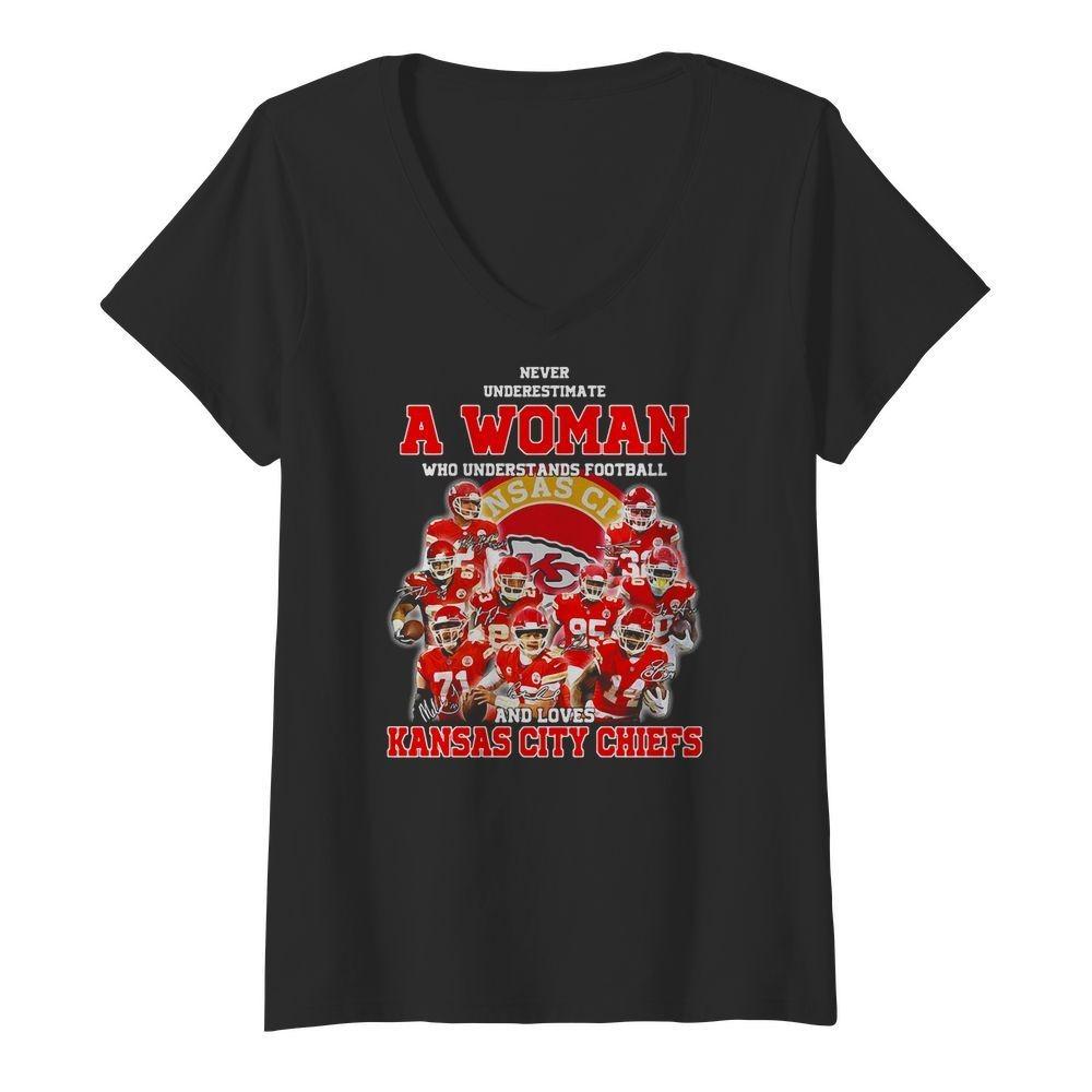 Never Underestimate A Woman Who Understands Kansas City Chiefs Shirt