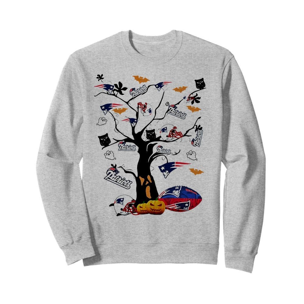 New England Patriots Tree Halloween Shirt