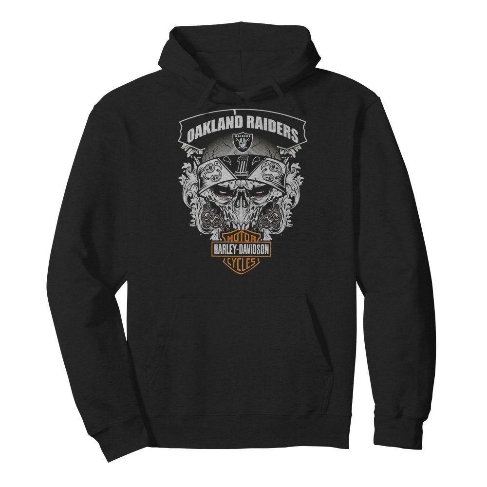 Oakland Raiders Motor Harley Davidson Cycles Shirt
