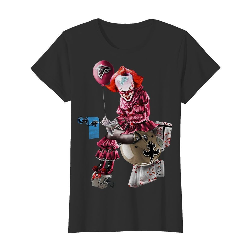 Pennywise It Atlanta Falcons Toilet Shirt