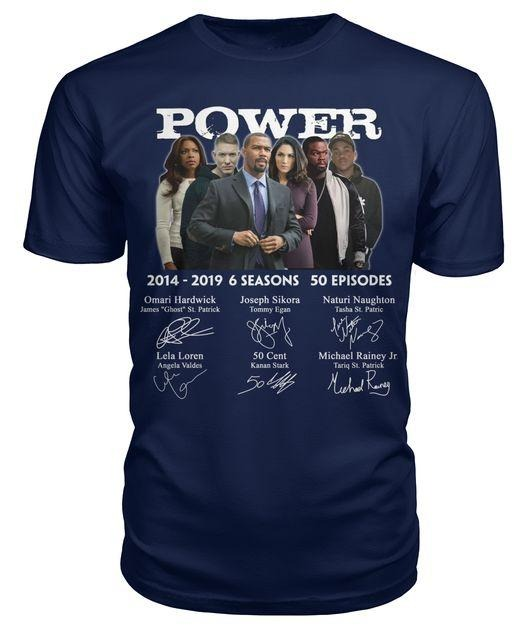 Power 2014 2019 6 Seasons 50 Episodes Signature Shirt