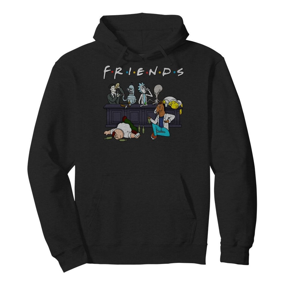 Rick And Morty Pete And Roger Friends Hoodie