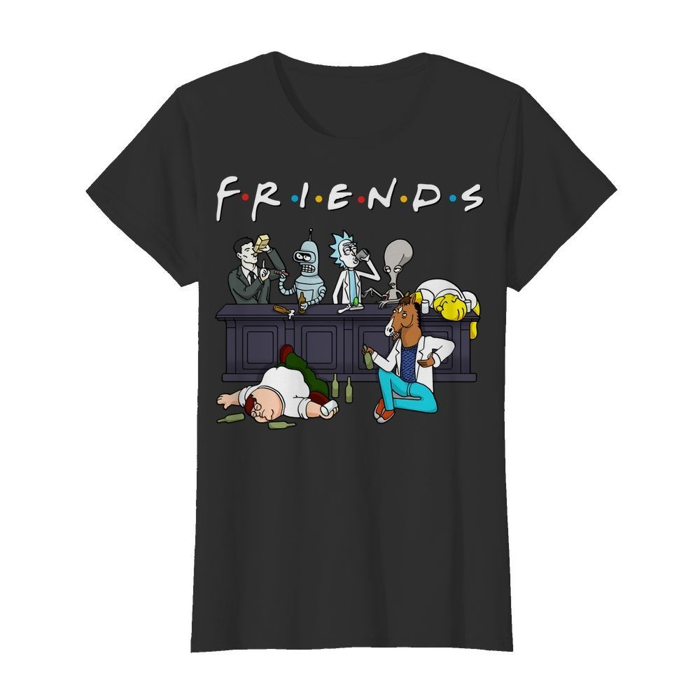 Rick And Morty Pete And Roger Friends Ladies Tee