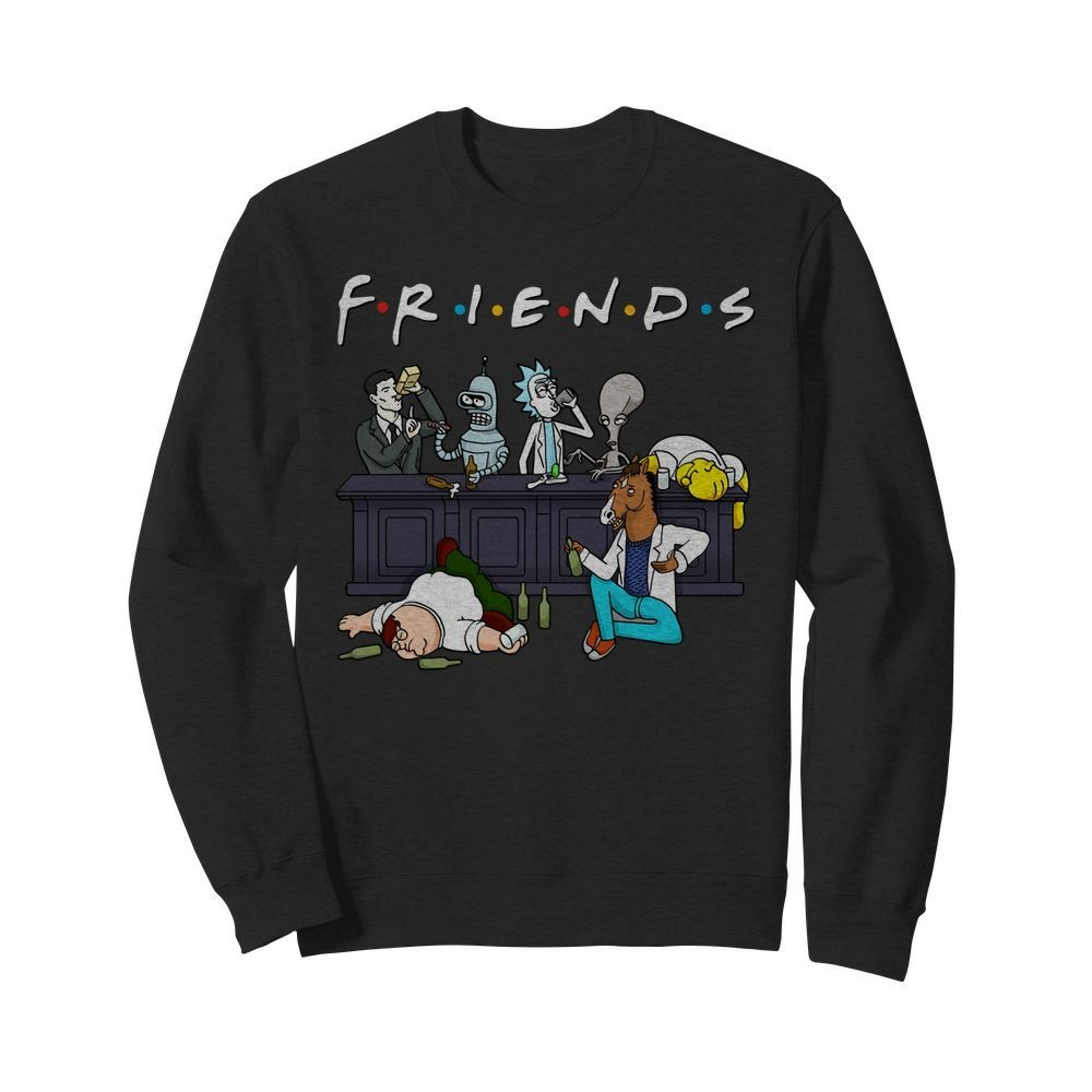 Rick And Morty Pete And Roger Friends Sweater