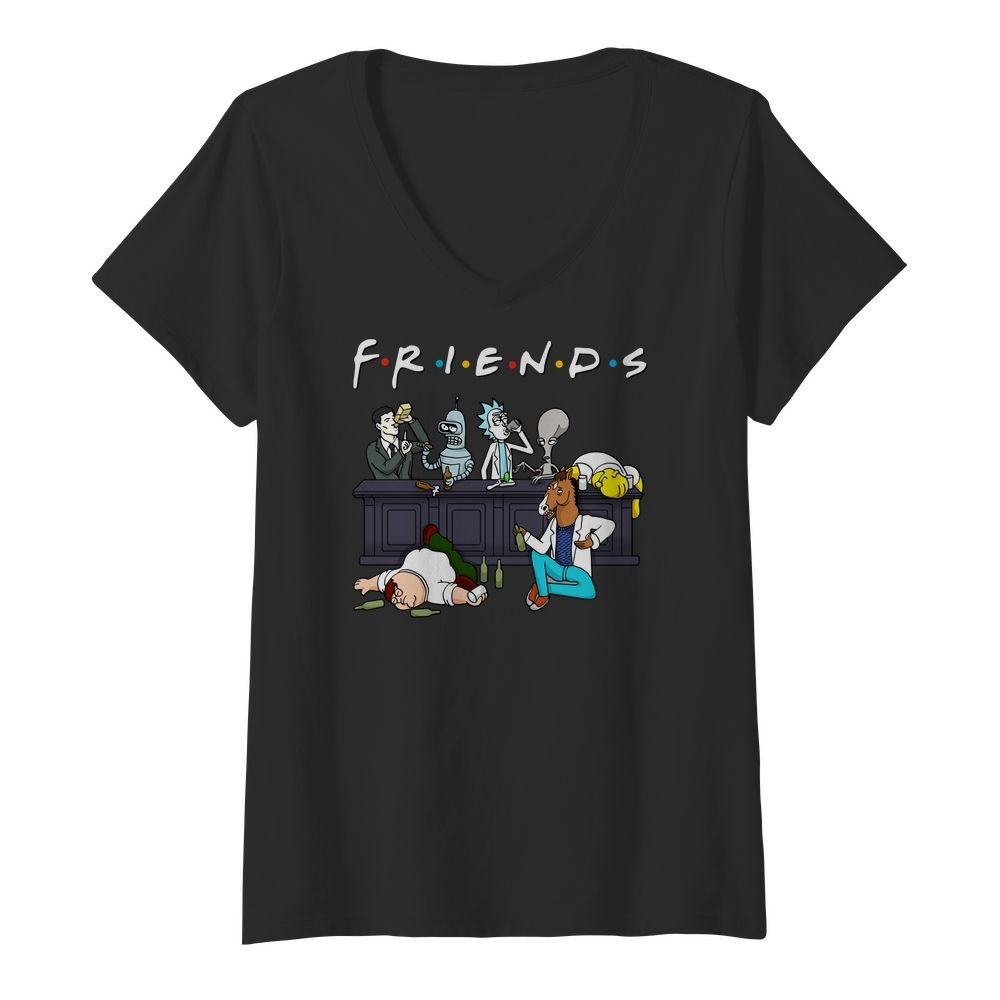 Rick And Morty Pete And Roger Friends V Neck T Shirt