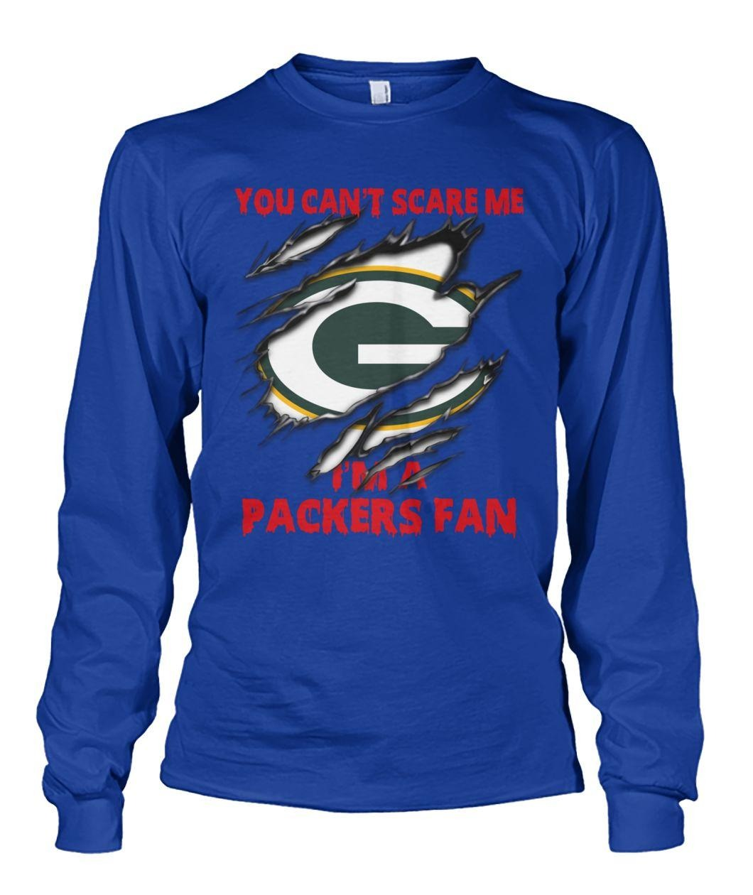 You Can't Scare Me I'm A Packers Fan Inside Me Shirt