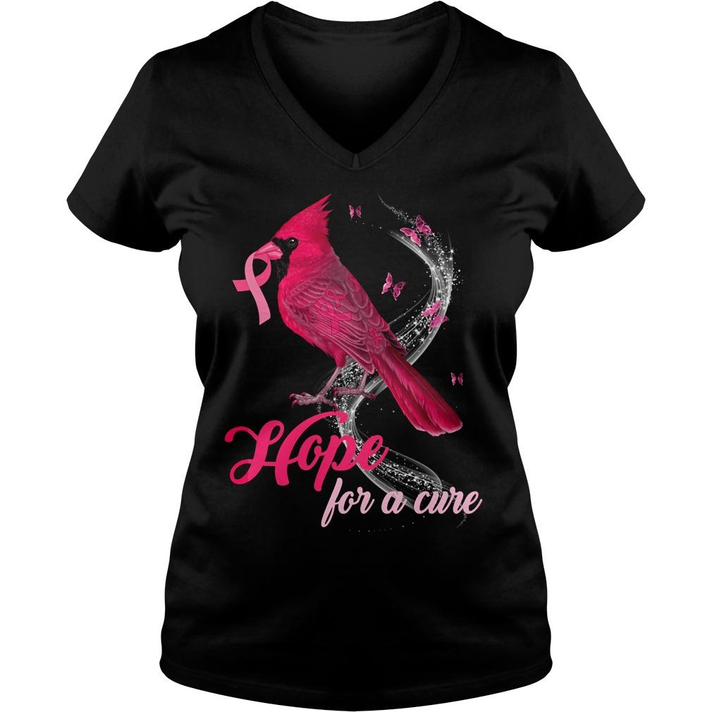 Breast Cancer Awareness Cardinal Bird Hope For A Cure Shirt