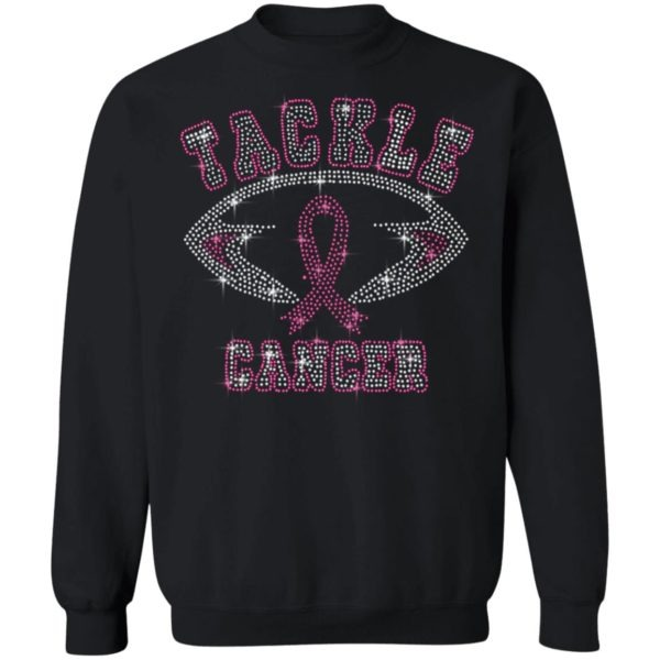 Breast Cancer Awareness Rhinestone Tackle Football Shirt
