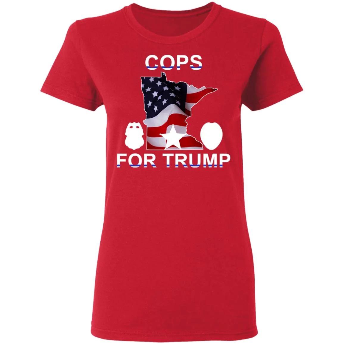 Cops For Trump America Flag Shirt
