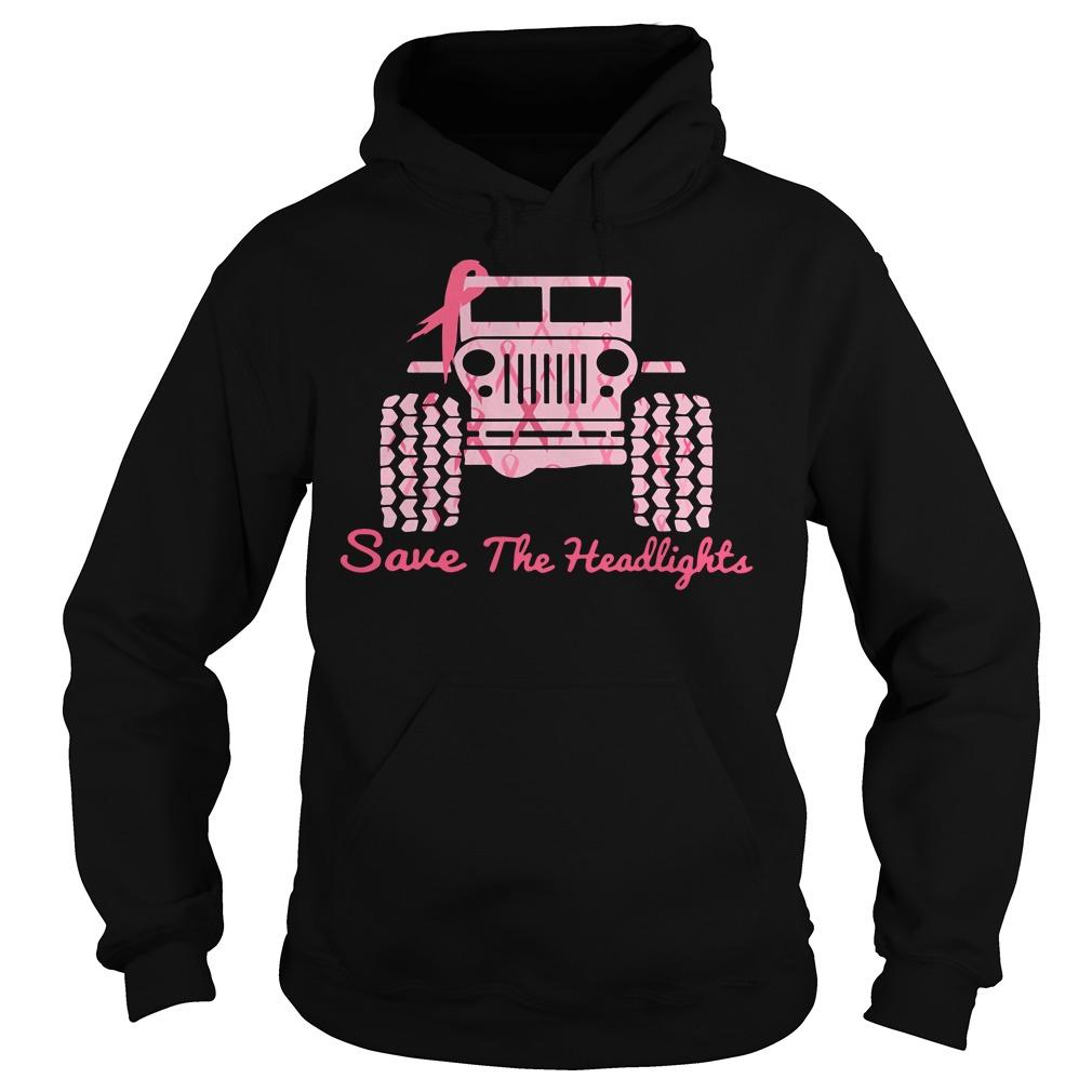Jeep Breast Cancer Awareness Save The Headlights Shirt