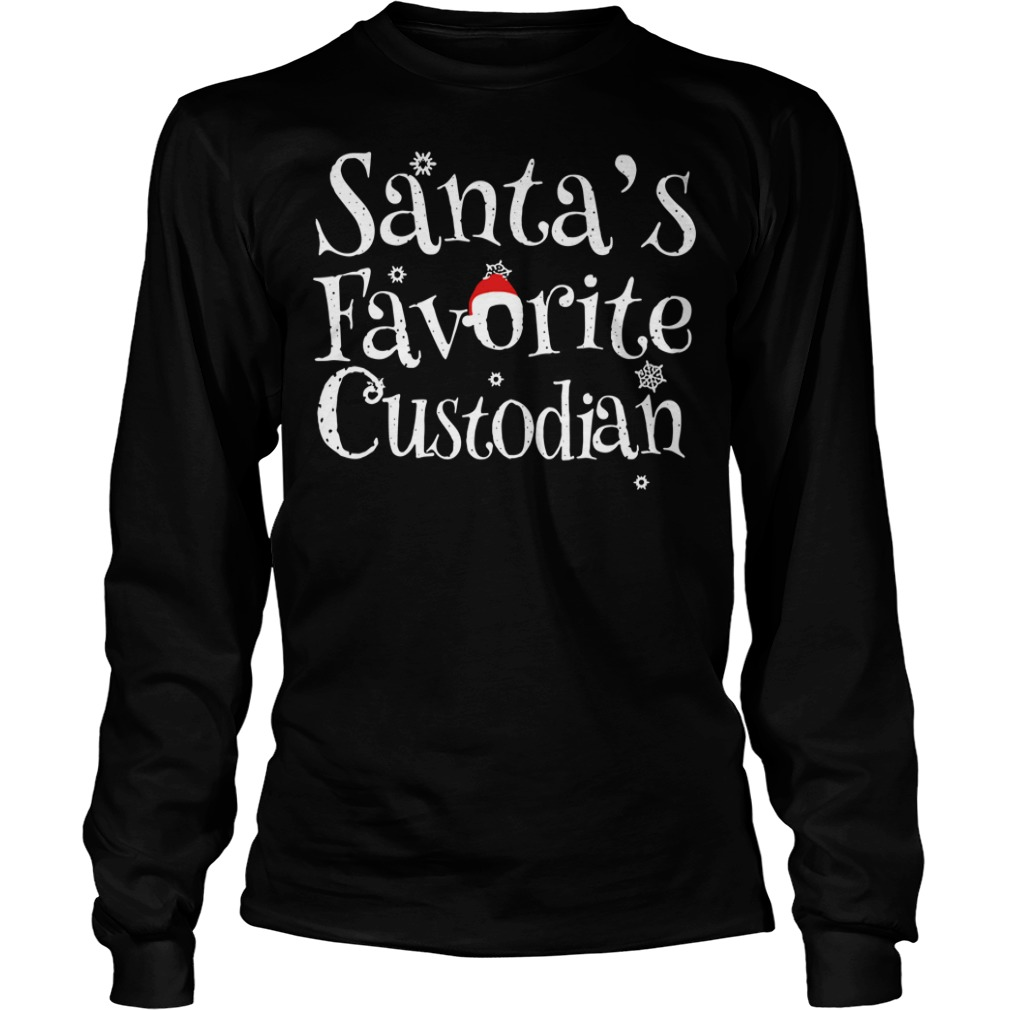Santa's Favorite Custodian Christmas Ugly Sweater