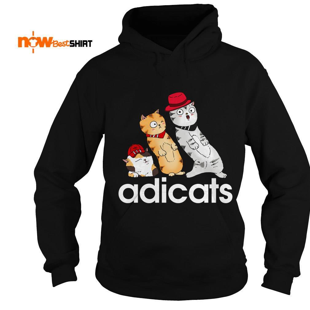 Cat Yellow And White Adicats Hoodie