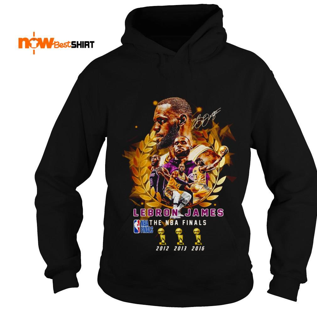 Lebron James The Nba Finals 2012 To 2016 Signature Hoodie