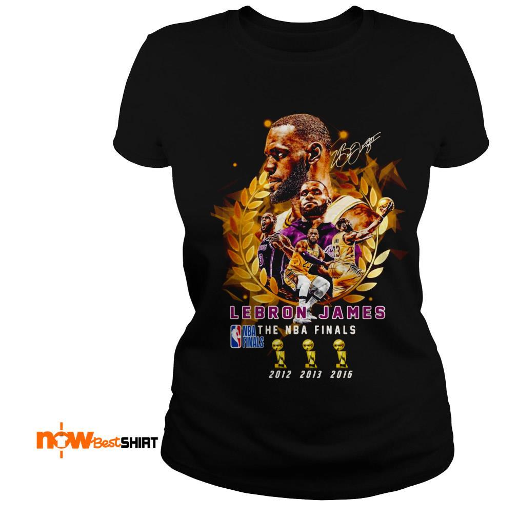 Lebron James The Nba Finals 2012 To 2016 Signature Ladies Tee