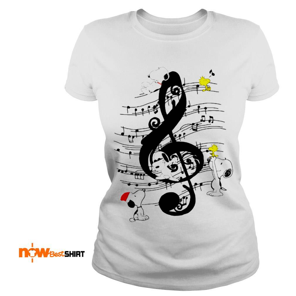 Musical The Peanuts Snoopy And Woodstock Ladies Tee