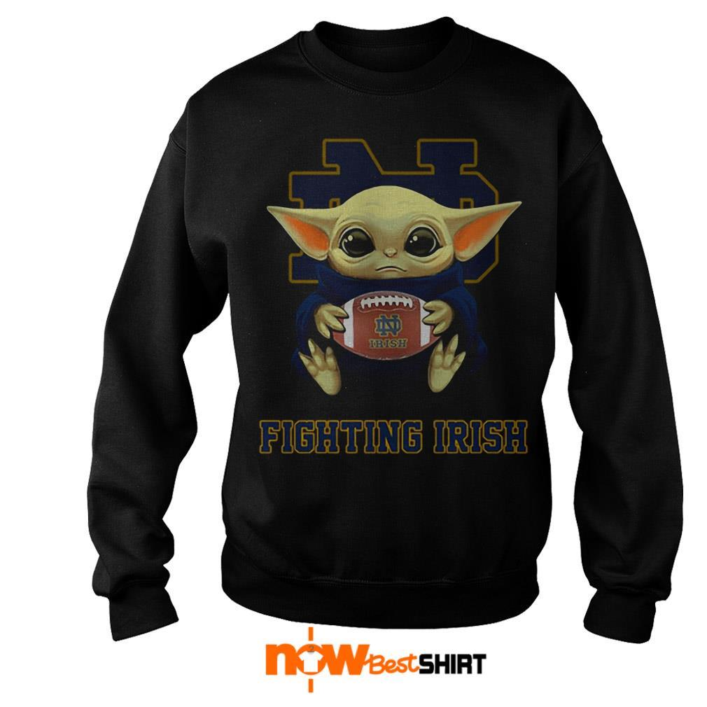 Official Star Wars Baby Yoda Hug Fighting Irish Sweater