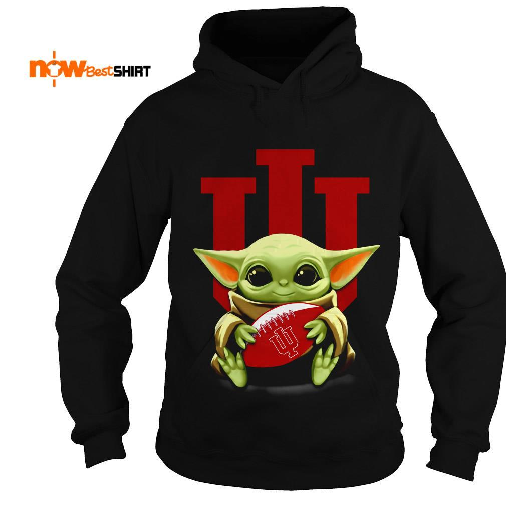 Official Star Wars Baby Yoda Hug Indiana University Hoodie