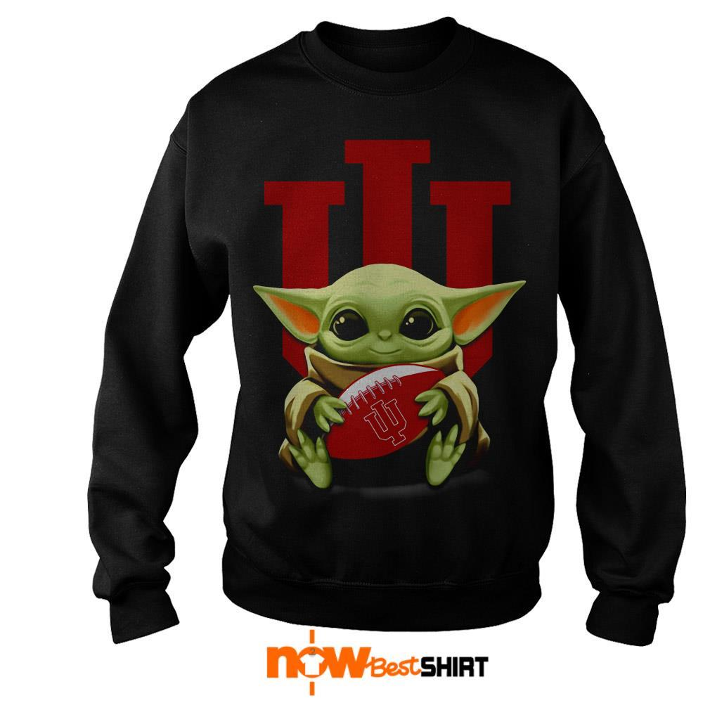 Official Star Wars Baby Yoda Hug Indiana University Sweater