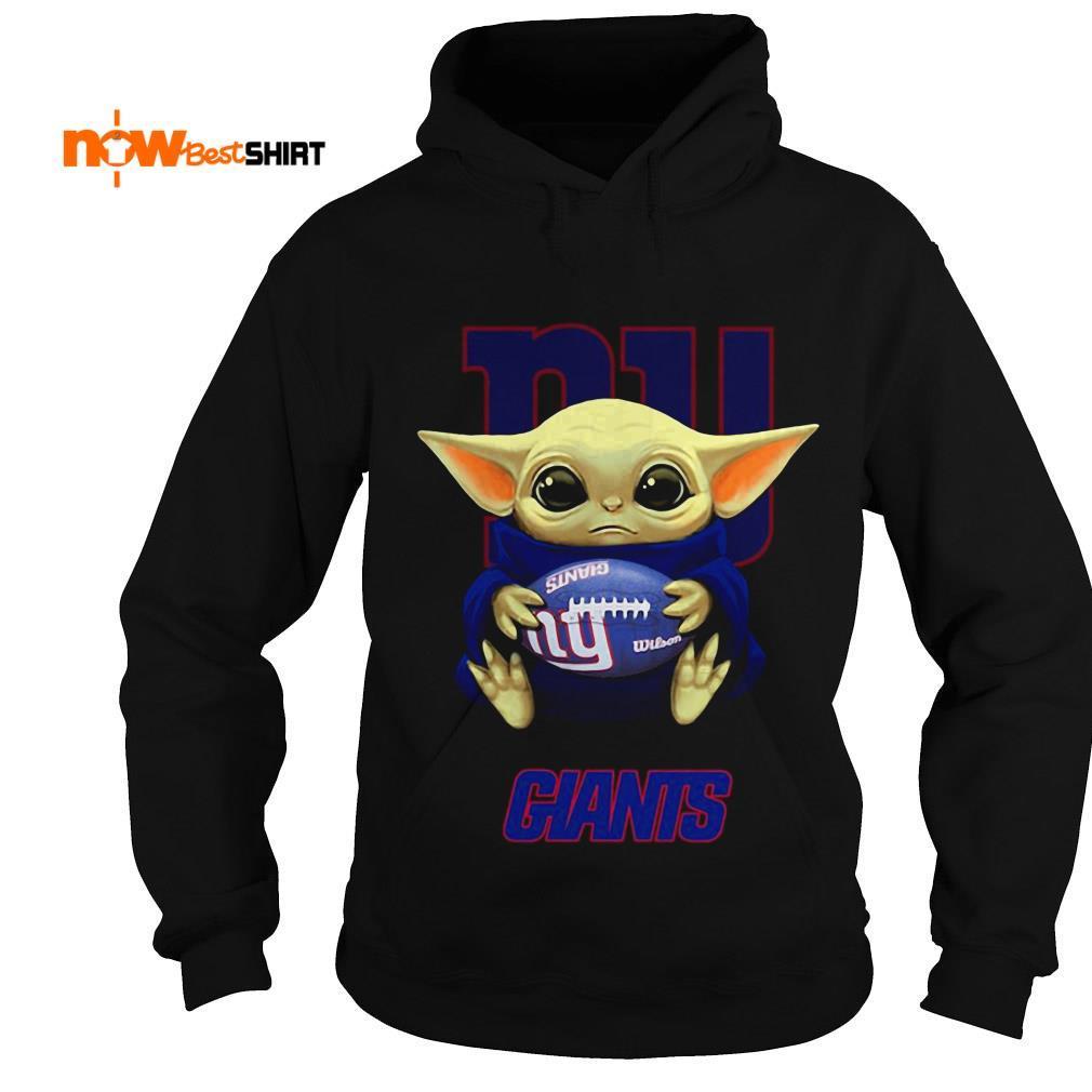 Official Star Wars Baby Yoda Hug New York Giants Hoodie