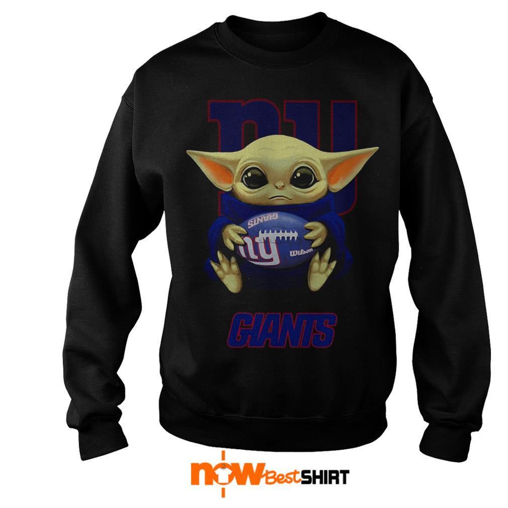 Official Star Wars Baby Yoda Hug New York Giants Sweater