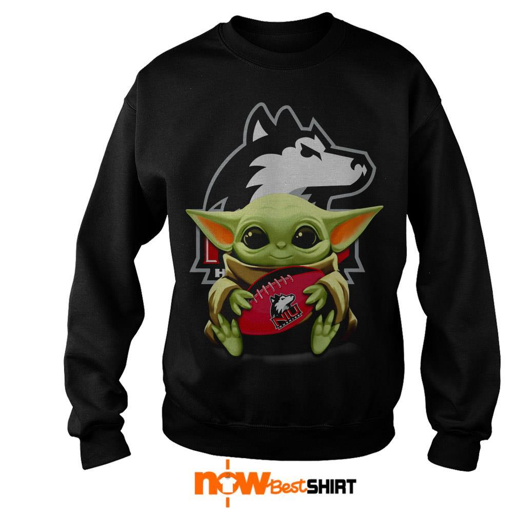 Official Star Wars Baby Yoda Hug Northern Illinois Huskies Sweater