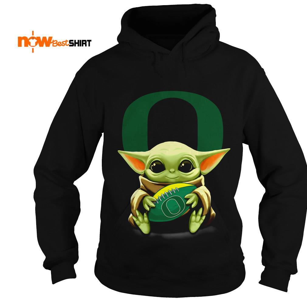 Official Star Wars Baby Yoda Hug Oregon Ducks Football Hoodie
