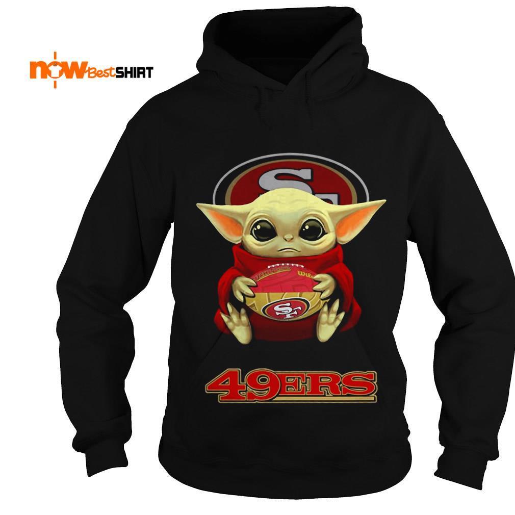 Official Star Wars Baby Yoda Hug San Francisco 49ers Hoodie