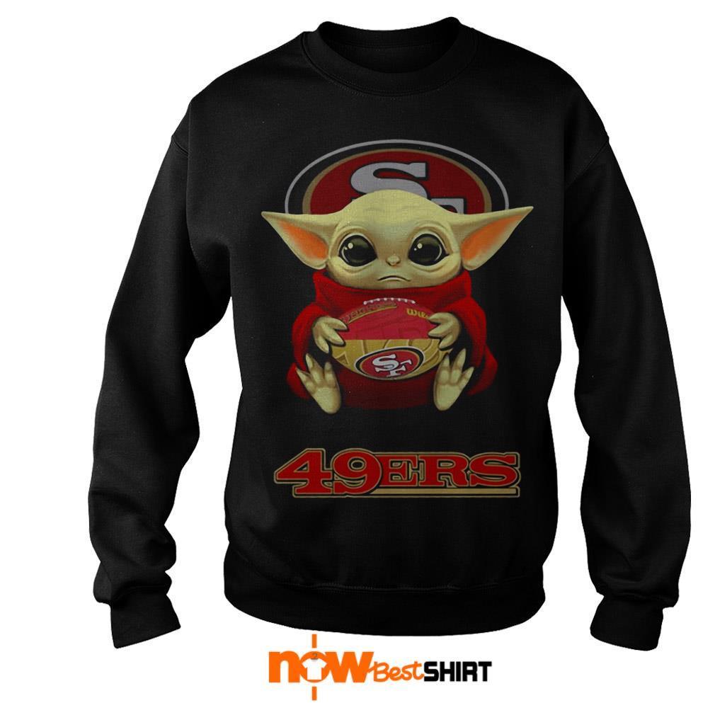 Official Star Wars Baby Yoda Hug San Francisco 49ers Sweater