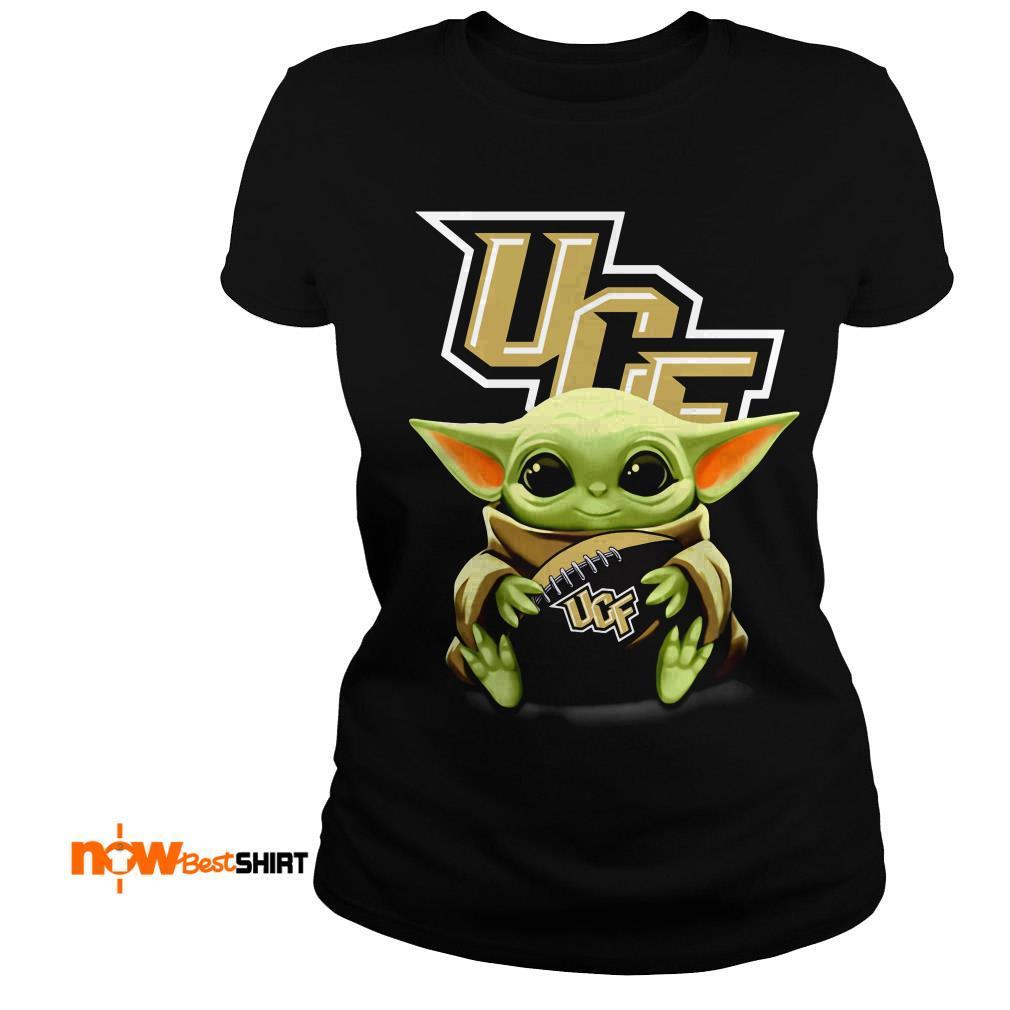 Official Star Wars Baby Yoda Hug Ucf Ladies Tee