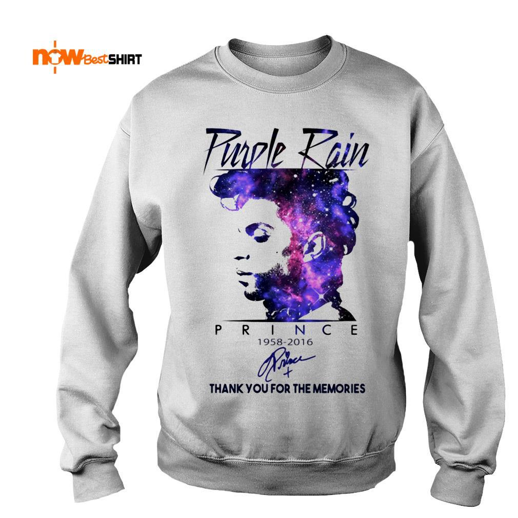 Purple Rain Prince 1958 2016 Thank You For The Memories Signature Sweater