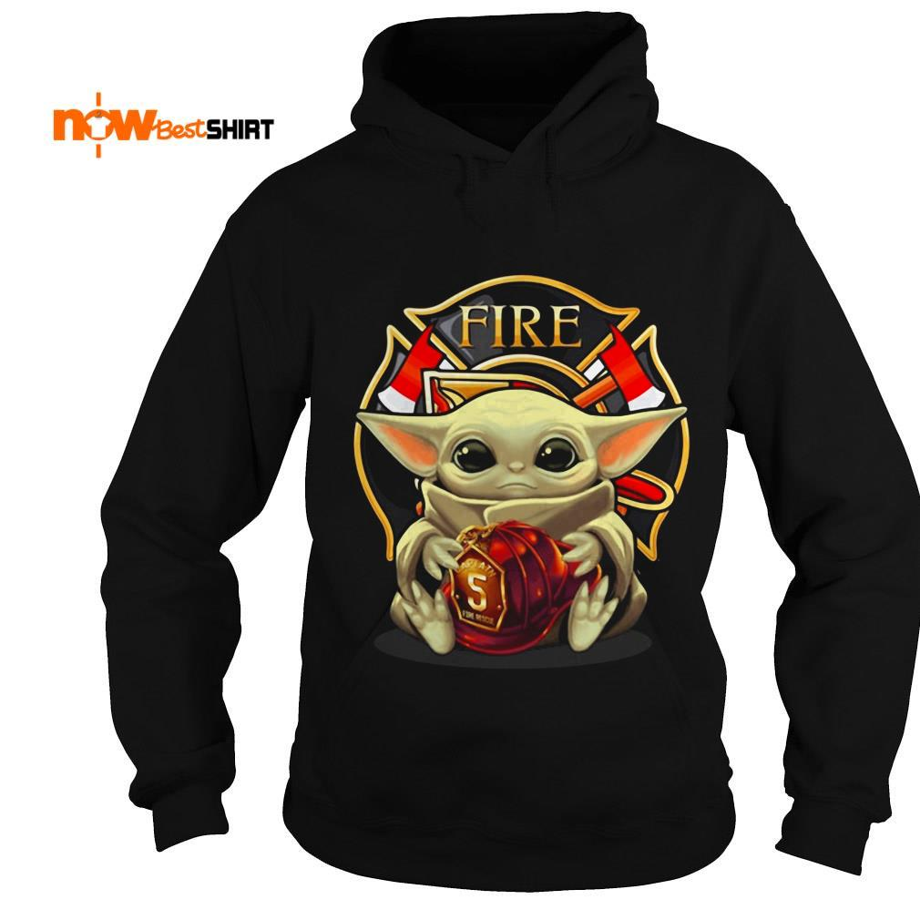 Star Wars Baby Yoda Hug Fire Department Hoodie