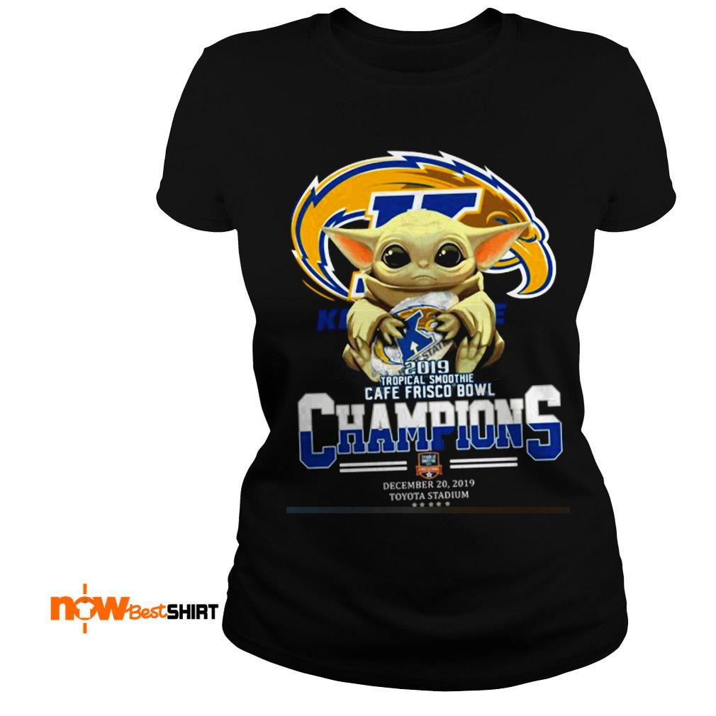 Star Wars Baby Yoda Hug Kent State 2019 Tropical Smoothie Cafe Frisco Bowl Champions Ladies Tee