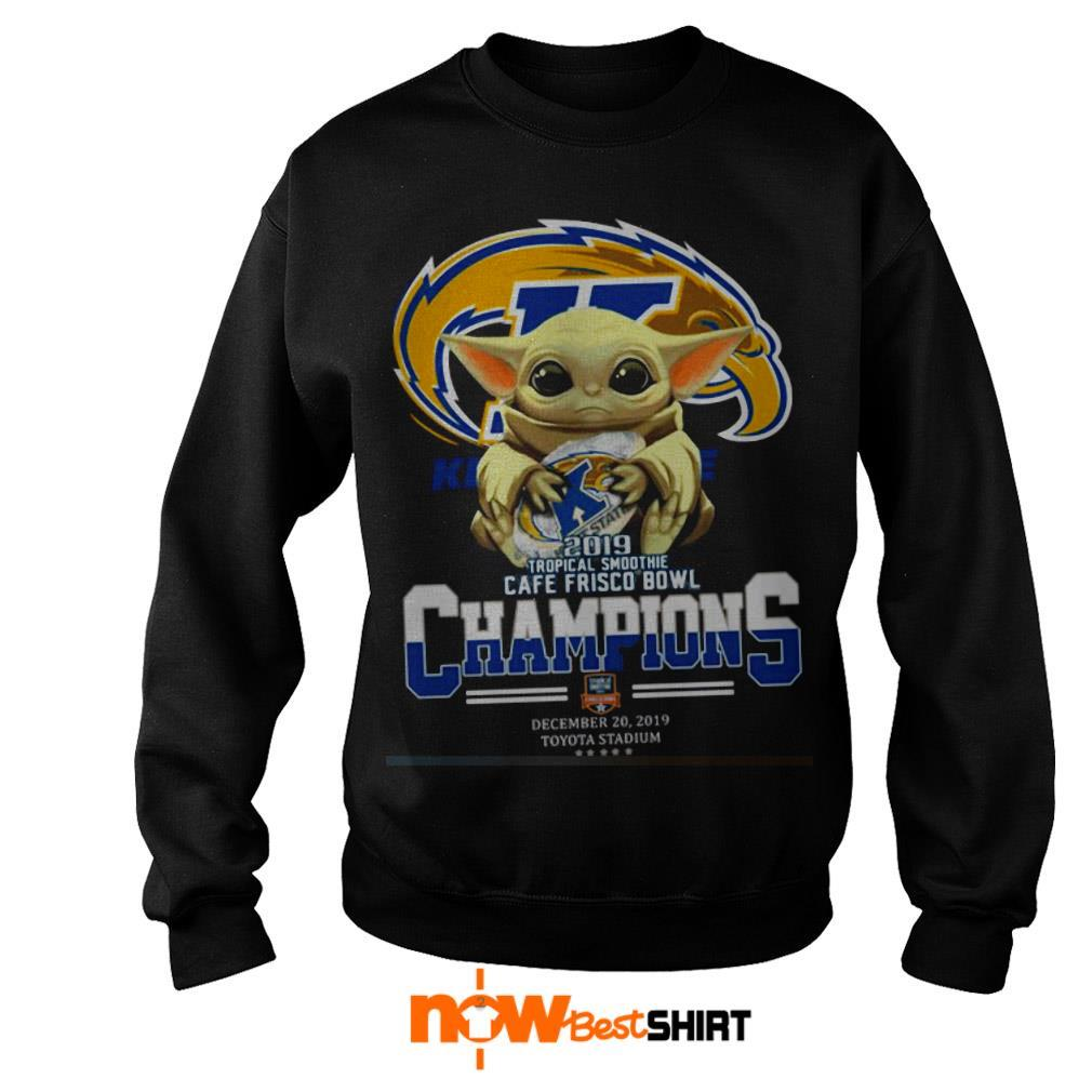 Star Wars Baby Yoda Hug Kent State 2019 Tropical Smoothie Cafe Frisco Bowl Champions Sweater