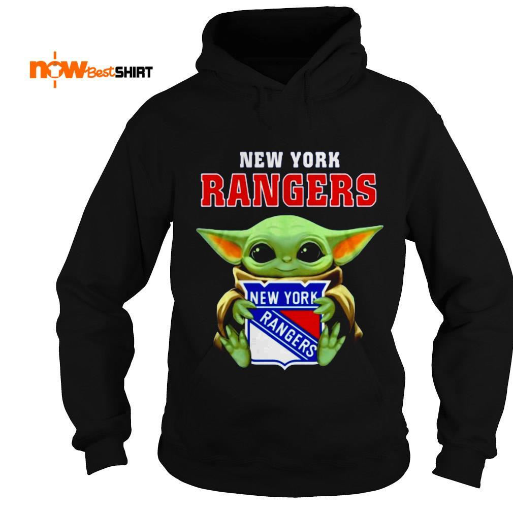 Star Wars Baby Yoda Hug New York Rangers Hoodie