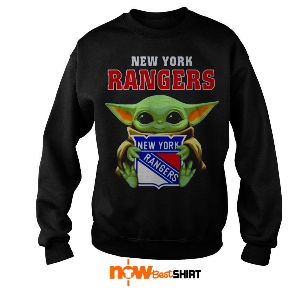 Star Wars Baby Yoda Hug New York Rangers Sweater