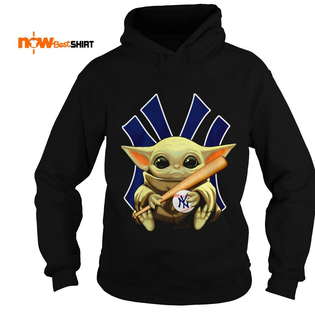 Star Wars Baby Yoda Hug New York Yankees Hoodie