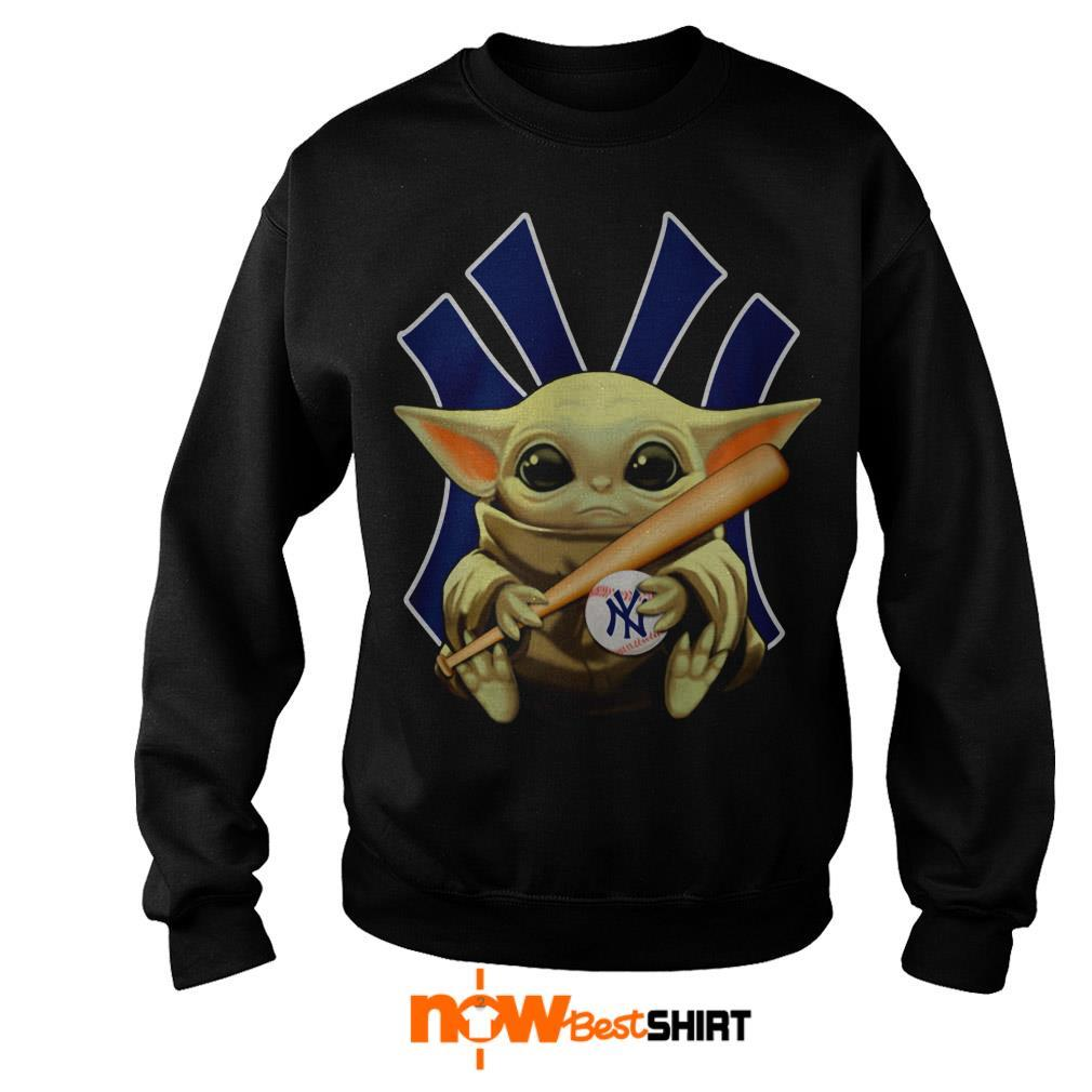 Star Wars Baby Yoda Hug New York Yankees Sweater