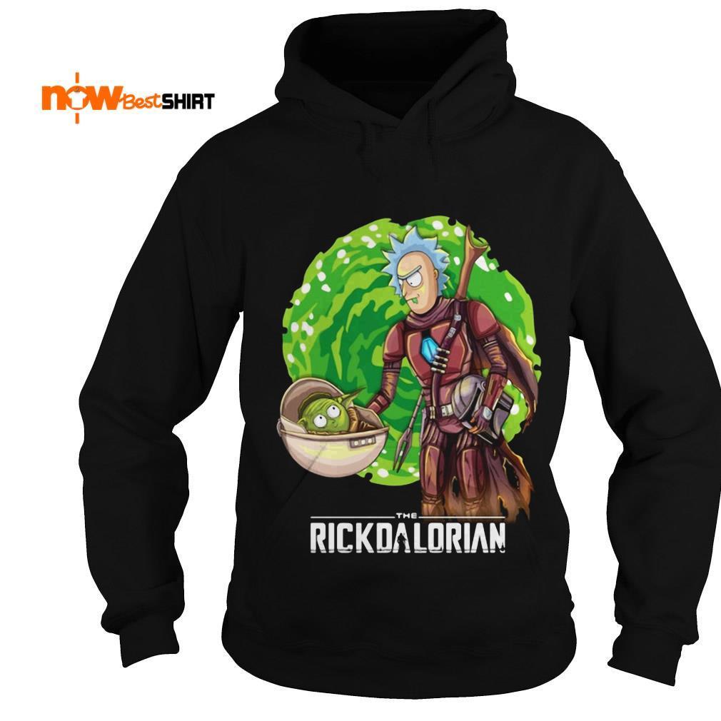 The Rickdalorian Baby Yoda And Rick Morty Hoodie